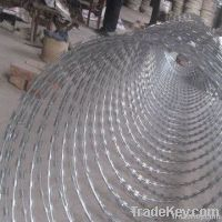 PVC or Galvanized Razor Barbed Wire(factory)