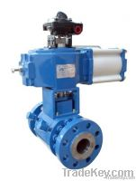 Pneumatic V type clip set of heat preservation ball valve