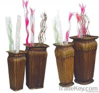 Wicker Flower Vases