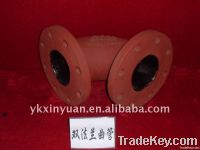 ductile casting iron double flange/socket elbow