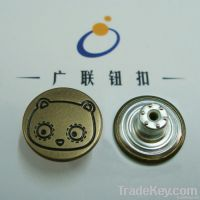 OEKO metal brass jeans fastener button