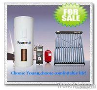 Split pressured evacuated tube solar water heater for home appliances