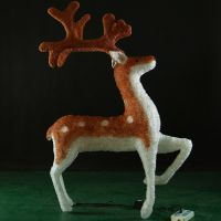 Good quality large santa sleigh christmas reindeer Led 3D lights