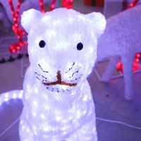 Handmadeled leopard 3D sculpture light theme park decoration