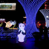 LED 3D Sit panda light sculpture sit outdoor use decoration light