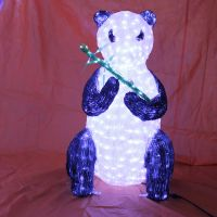 LED 3D Sit panda light sculpture sit outdoor use decoration light