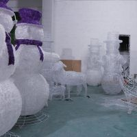Most popular quality led snowman outdoor China wholesale