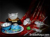 lofty tone enjoy silver tableware sets