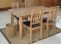 Pine Wood Dining Table Set
