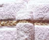Sets of 8 Pure Nile Cotton towels, embroidered
