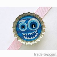 blue monster epoxy bottle cap magnet