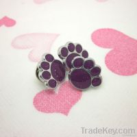 limited edition purple paw shape pin badge