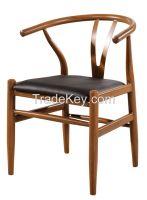 Dining chair wood / Y wood chair / Wishbone stools
