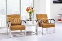 S006 office leisure sofa/wood arm sofa/steel base sofa