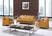 S001A office leisure sofa/wood arm sofa/steel base sofa