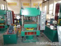 Pole type rubber plate vulcanizing machine