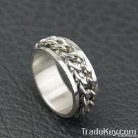 Men's unique fashion titanium rings for engagement