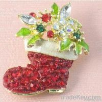 2011 christmas brooch jewelry, fashion christmas gift in wholesale
