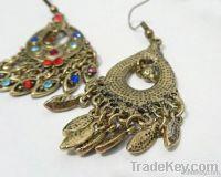 Antique Bohemian earrings, fashion silver earrings jewelry manufacture