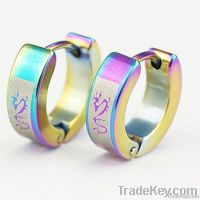 2012 New earrings, men's fashion titanium earrings distributor