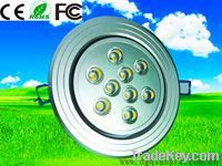 LED ceilling/down  light(9w, 810-900lm, 132x70mm)