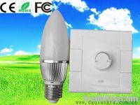 3*1W Dimmable LED Candle Light