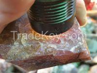 Transvaal Jade Grossular Garnet transparent pink