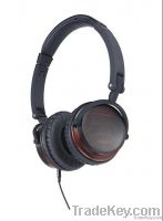50mm driver multimedia wooden stereo headphone