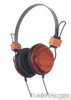 high class multimedia wooden stereo headphone(X07)