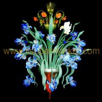 Murano chandelier Iris Van Gogh 24 lights