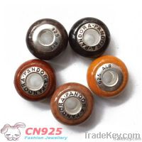 Wood Beads With 925 ALE Writing