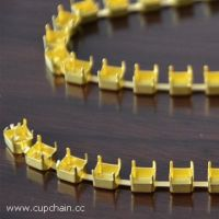square cup chain, empty cup chain