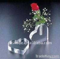 Acrylic Flower Vase, heart shape
