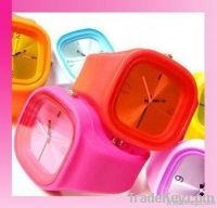 fashion silicone jelly quartz watch