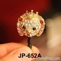 2012 hottest dustproof ear plug minipol ear cap earphone jack pin