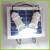 Mini rechargeable solar system for home lighting