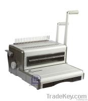 Wire and comb binding machine