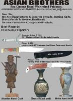Swords, Hunting Knifes & Handicrafts