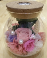 Wishing bottle glass preserved flower gift box