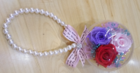 Colorful preserved flower of float hanging