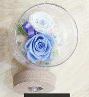 Wishing bottle glass preserved flower gift box