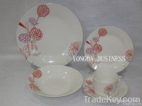 12/16/18/20/24/30 pieces white porcelain dinner set