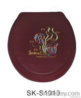 Embroidered Soft Toilet Seat - Elongated