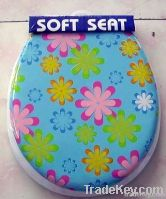 Toilet Seat - Printed Soft Toilet Seat with Cover
