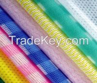 Printed viscose and polyester spunlace nonwoven fabric