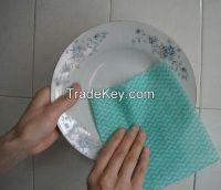 Spunlaced viscose fabric for kitchen