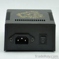 Black Casting LCD Digital Tattoo Power Supply Machine Golden lion Desi
