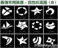 Wholesale - 100 Mixed Design Tattoo Body Painting Glitter Stencil