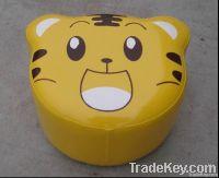 yellow tiger children stool