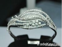 Fine Design Of 925 Silver Cubic Zircon Bracelet Bangle